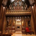 Via  Lawrence OP@flickr. A typical rood screen, with the altar visible just beyond.