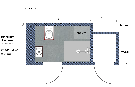 A Close Up Of The Plan For Room
